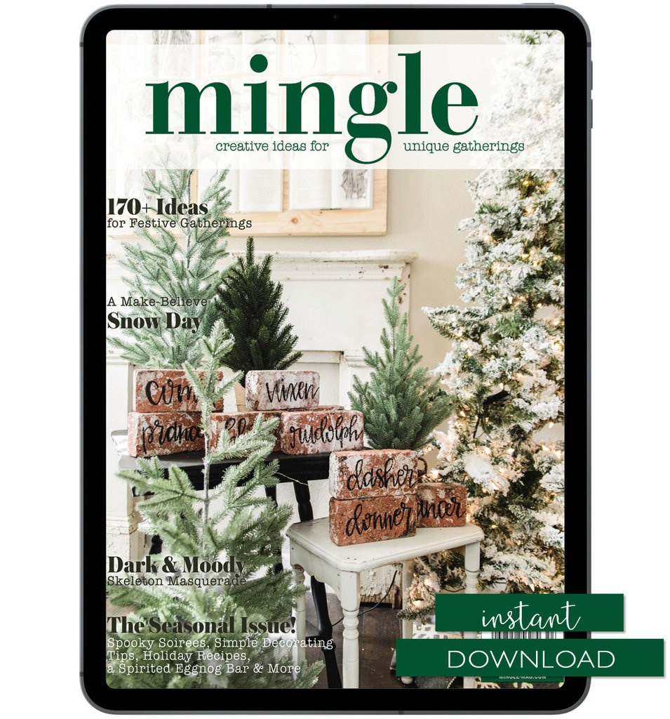 Mingle - Magazine and PDF - Instant Download - 170 Ideas for the holidays