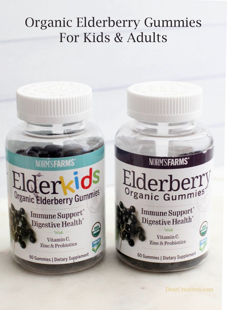 Healthy living tips - Elderberry Organic Gummies for adults and kids - see the benefits of using elderberry to support your immune system - © DearCreatives.com