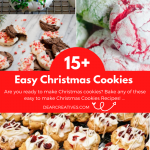 Are you looking for Christmas cookie recipes to make_ Bake 15+ EASY Christmas Cookies - DearCreatives.com #easyChristmascookies