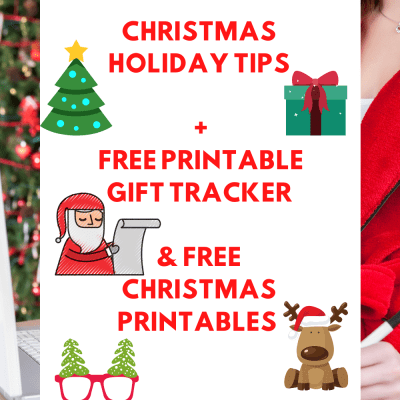 Christmas holiday tips + Free Printable gift tracker with expense tracker. And even more Christmas printables to keep the holidays stress free! DearCreatives.com