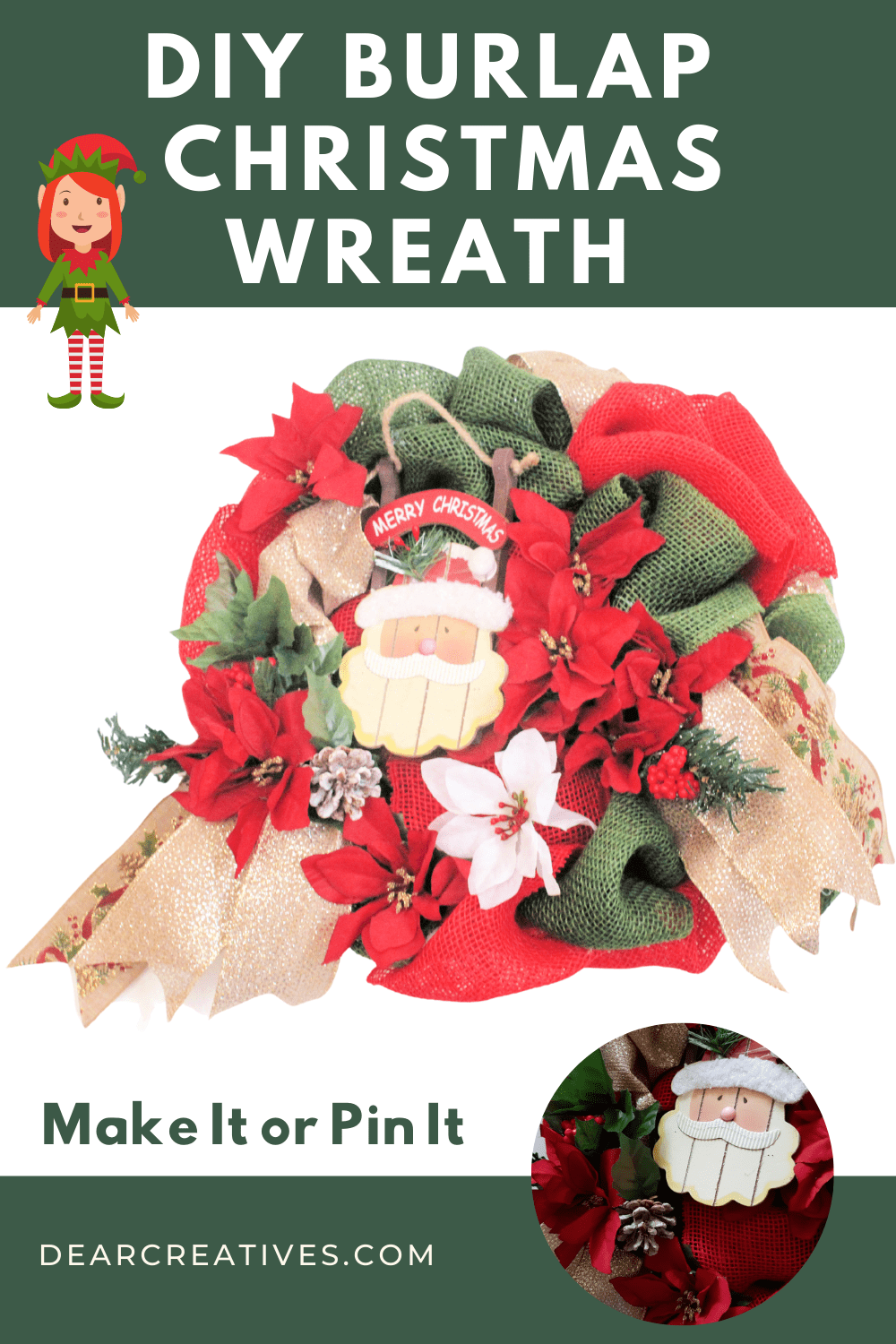 DIY Burlap Christmas Wreath + Tips and Resources