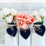 DIY Farmhouse Decor - Paint and decorate mason jars, style them for farmhouse decor, mason jar gift ideas, or even use as Valentine's Day decor... DIY at DearCreatives.com