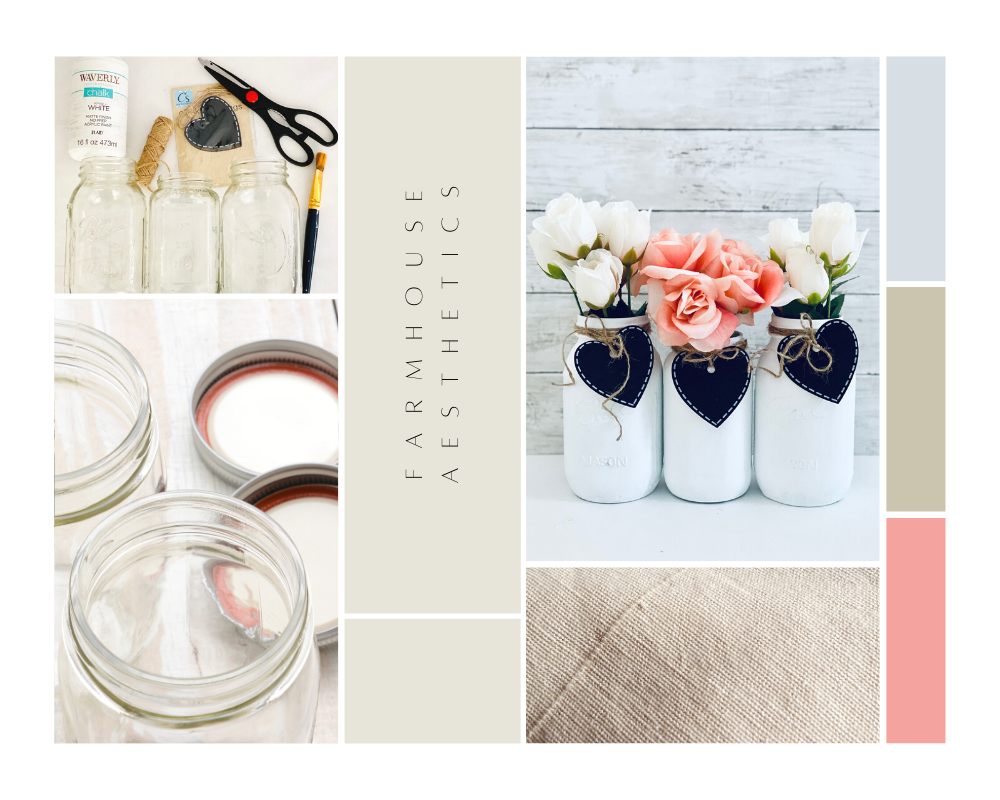 Farmhouse aesthetics - See all the mason jar ideas, home decor ideas, and mason jar crafts to make at DearCreatives.com