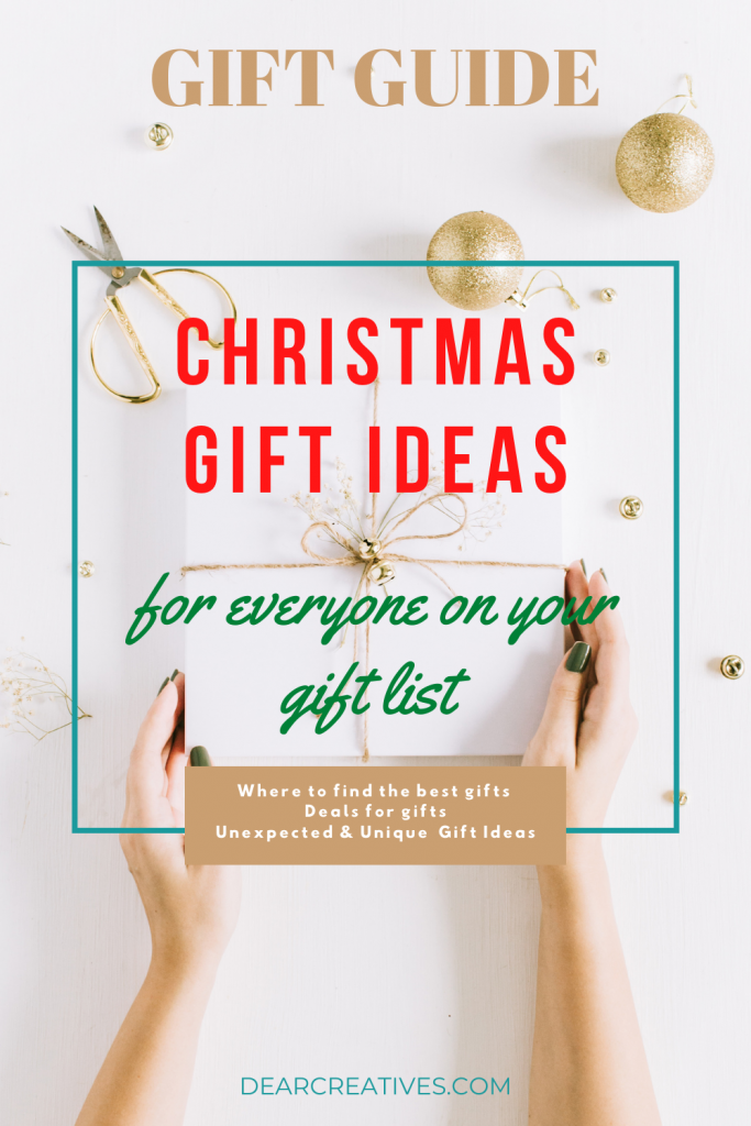 The Best Gifts - Gift Guide - Christmas gift ideas for everyone on your gift list! DearCreatives.com
