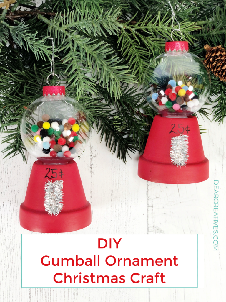 Gumball-Machine-Ornaments-hanging-from-a-Christmas-tree.-See-how-to-make-these-ornaments-at-DearCreatives.com-diyornaments