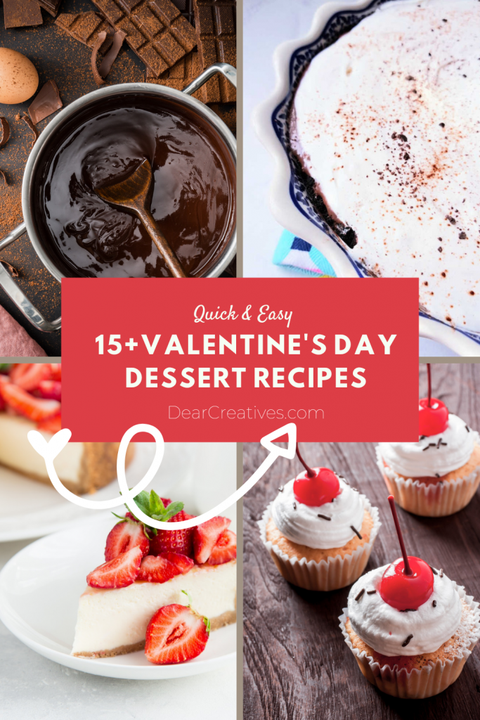 5+ Valentine's Day Desserts Recipes - Use them for Valentine's Day, Galentine's Day or anytime you are craving sweet desserts... Grab the desserts and sweet treat recipes at DearCreatives.com