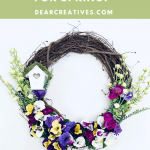 DIY Spring Wreath - Decorate a grapevine wreath for spring! Quick, easy and fun! How-to at DearCreatives.com