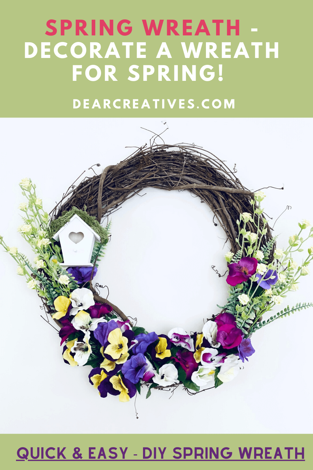 DIY Spring Wreath (Quick & Easy!)
