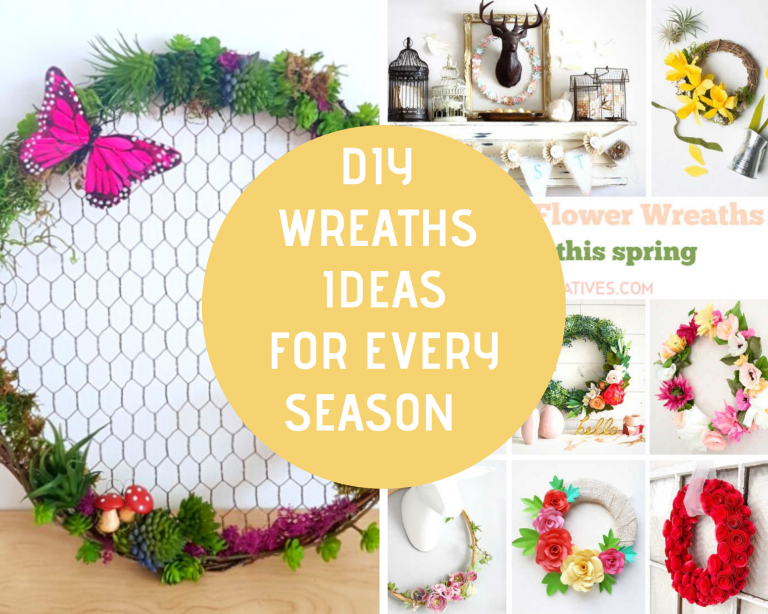 Grapevine Wreath Ideas - DIY Wreath Ideas - Door Wreaths and Wreaths for hanging indoors. Wreaths for every season! Spring wreaths, Valentine's Day Wreaths, Summer Wreaths, Fall Wreaths, Christmas Wreaths, Farmhouse Wreaths...DearCreatives.com