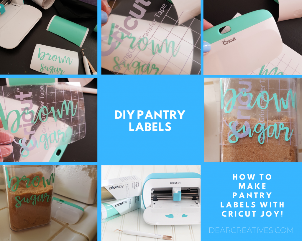 DIY pantry labels - How To Make Pantry Labels With A Cricut Joy - Step by step instructions DearCreatives.com