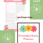 Daily Planner Printable - Make your to-do lists, get stuff done and make today count! Grab this daily planner printable template. Free Printables - DearCreatives.com