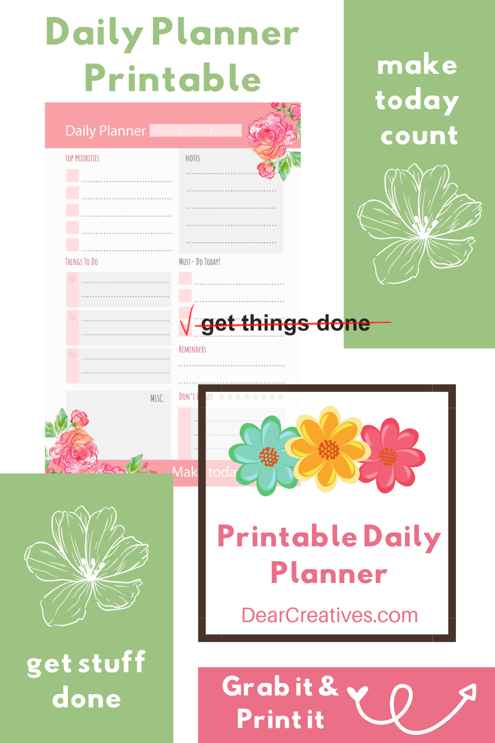 Daily Planner Printable – Make Today Count!