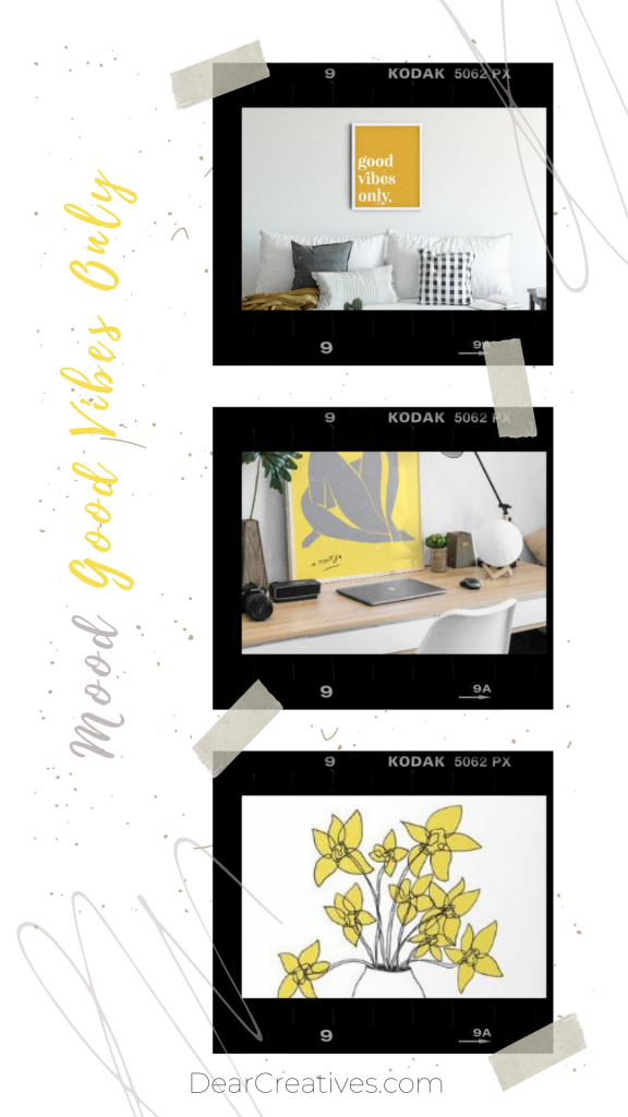 Home Decor Ideas - Brighten up your home with the color combination of Patones color of the year for 2021 yellow and gray! - DearCreatives.com
