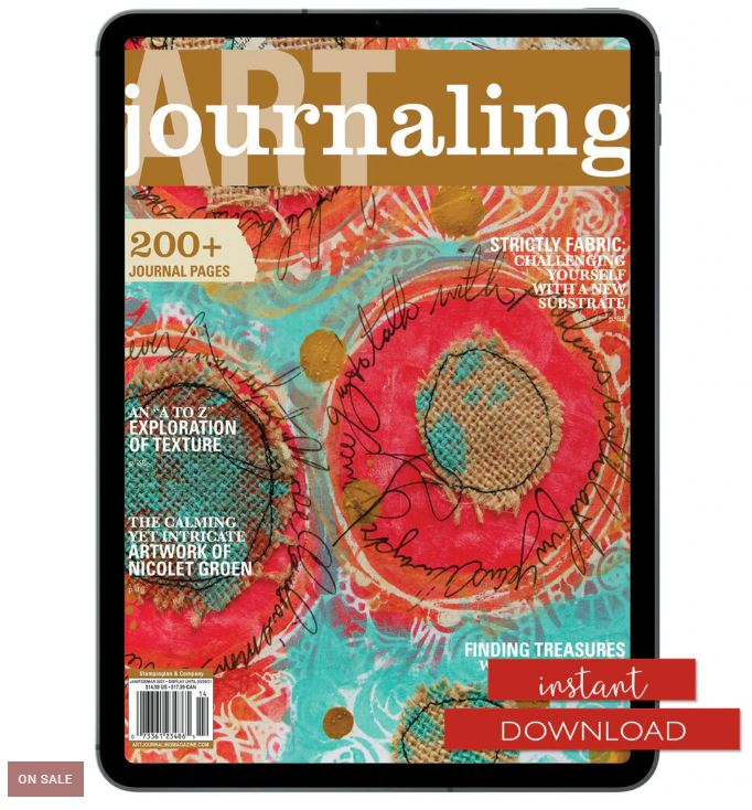 Instant Download on sale for Art Journaling Magazine