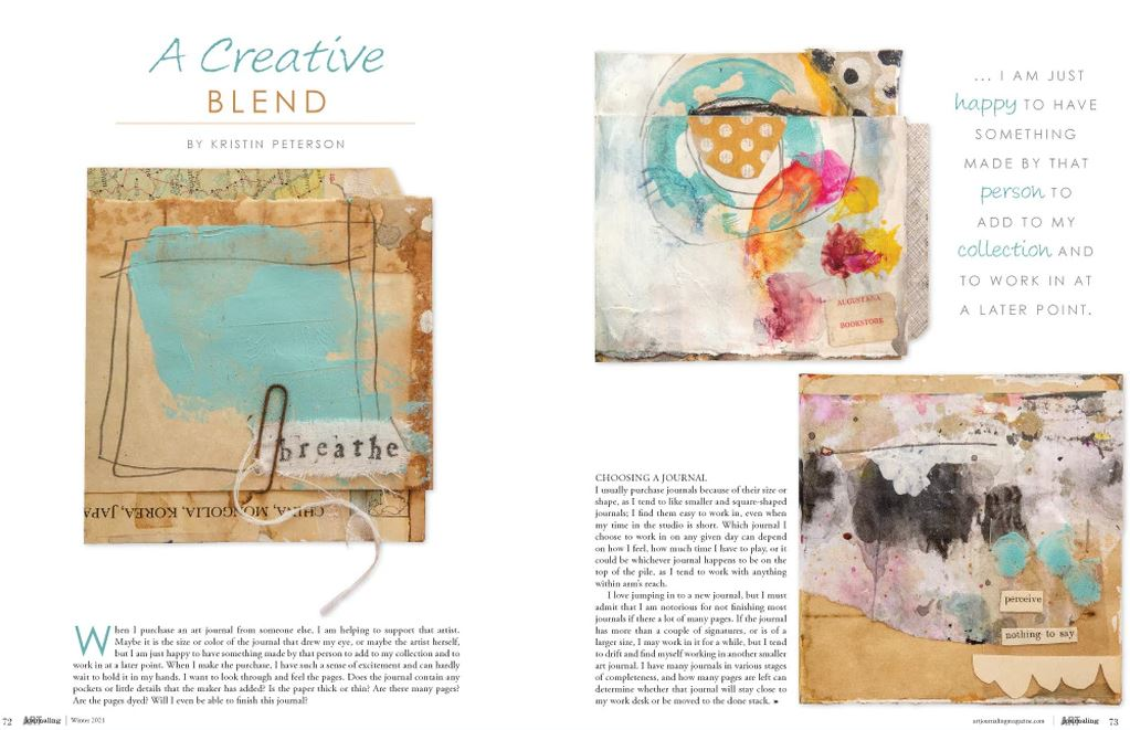Page 72 - Peek inside art journaling magazine A creative blend by Kristin Peterson... Stampington Winter Art Journaling Magazine