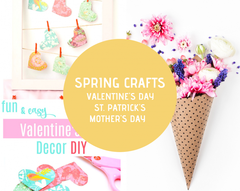 Spring Crafts - Valentine's Day Crafts, St. Patrick's Day Crafts, Mother's Day Crafts see the craft ideas and DIY projects for spring at DearCreatives.com