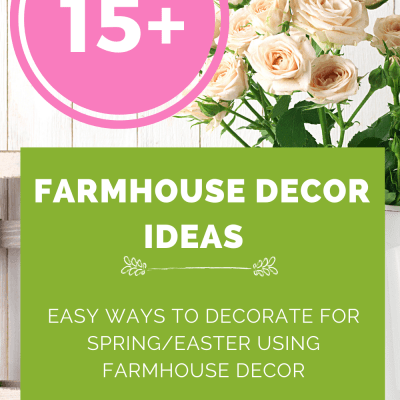 Farmhouse Decor Ideas - Spring decorating ideas. Farmhouse decor for the living room...- DearCreatives.com
