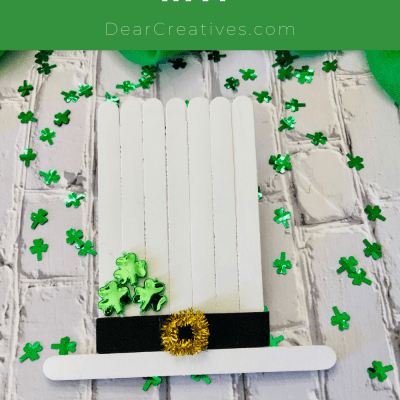 Popsicle Stick Leprechaun Hat - St. Patrick's Day Kids Craft with craft sticks (popsicle sticks)... DearCreatives.com