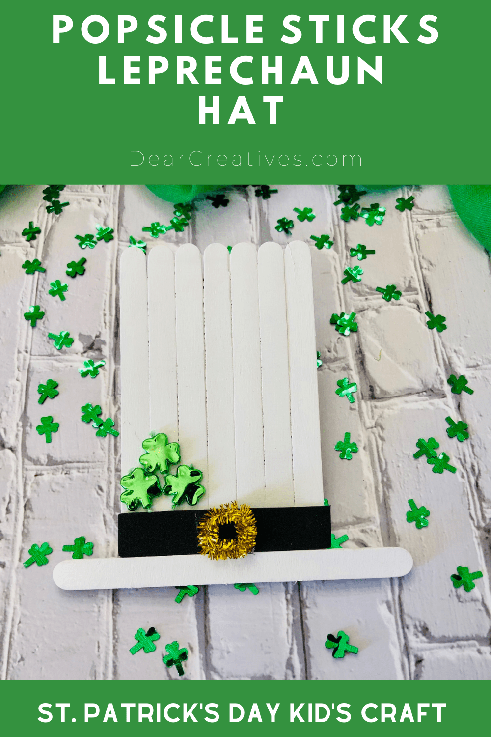 Popsicle Stick Leprechaun Hat – St. Patrick's Day Kid's Craft