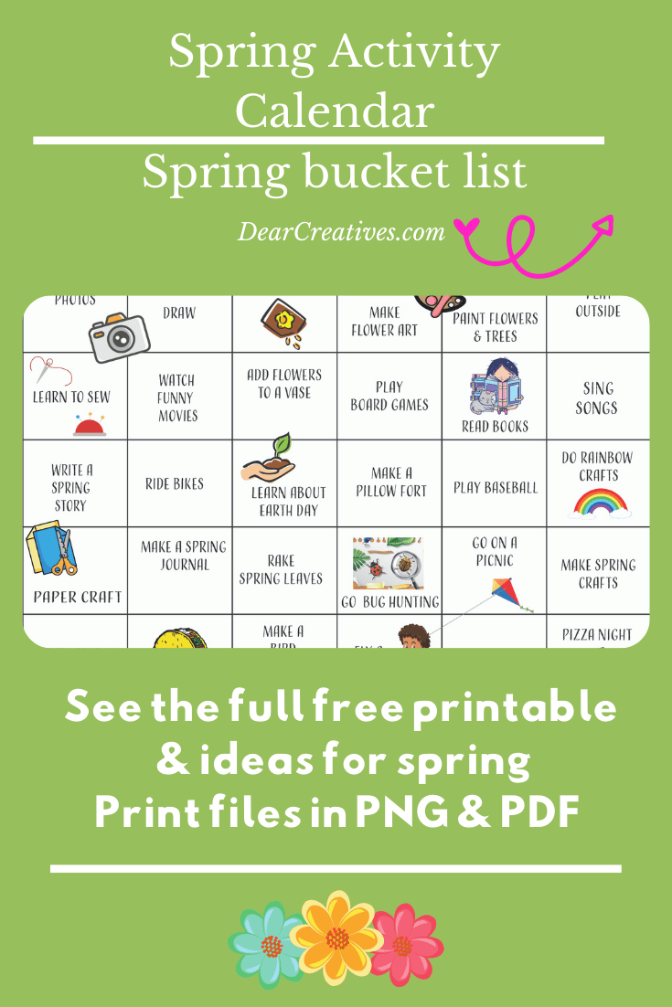 Spring Activities – Printable