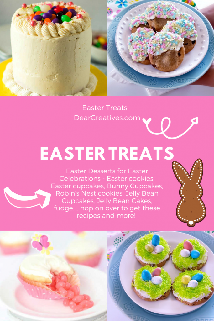 Are you looking for Easter desserts to make that are easy_ 20 Easter Treats To make for your Easter celebrations! DearCreatives.com