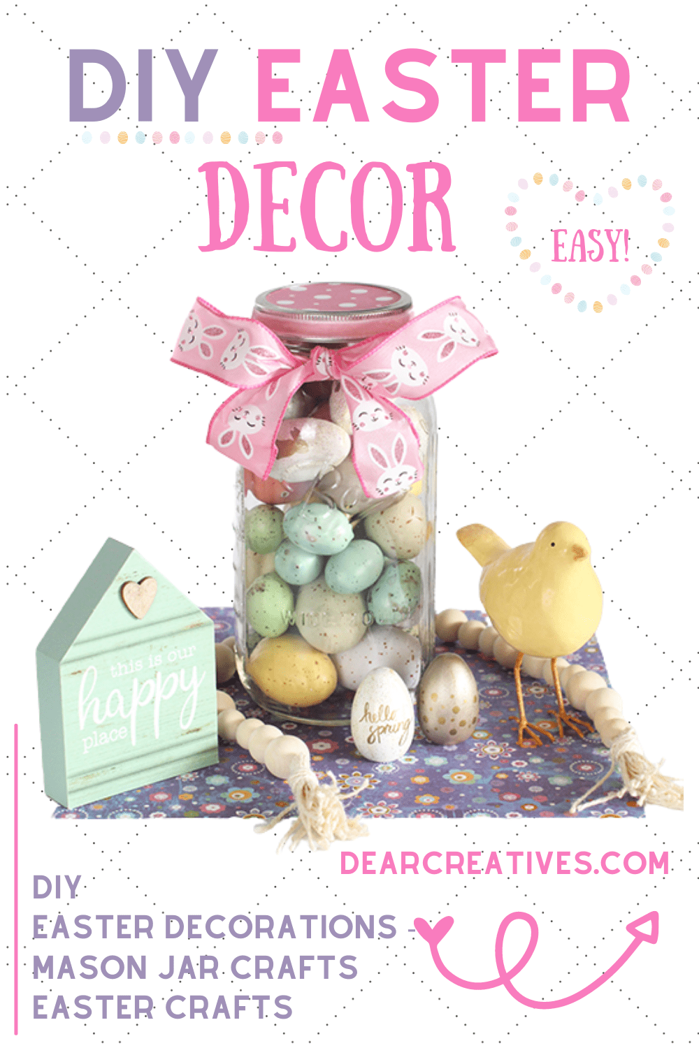 DIY Easter Decor – Mason Jar Craft