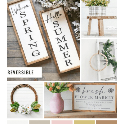 Neutral decor ideas that can be used for spring and summer decorating too! DearCreatives.com