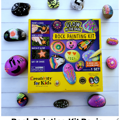 Rock Painting Kit Review - See what's in the kit, tips and what we liked and to expect when using the craft kit. DearCreatives.com