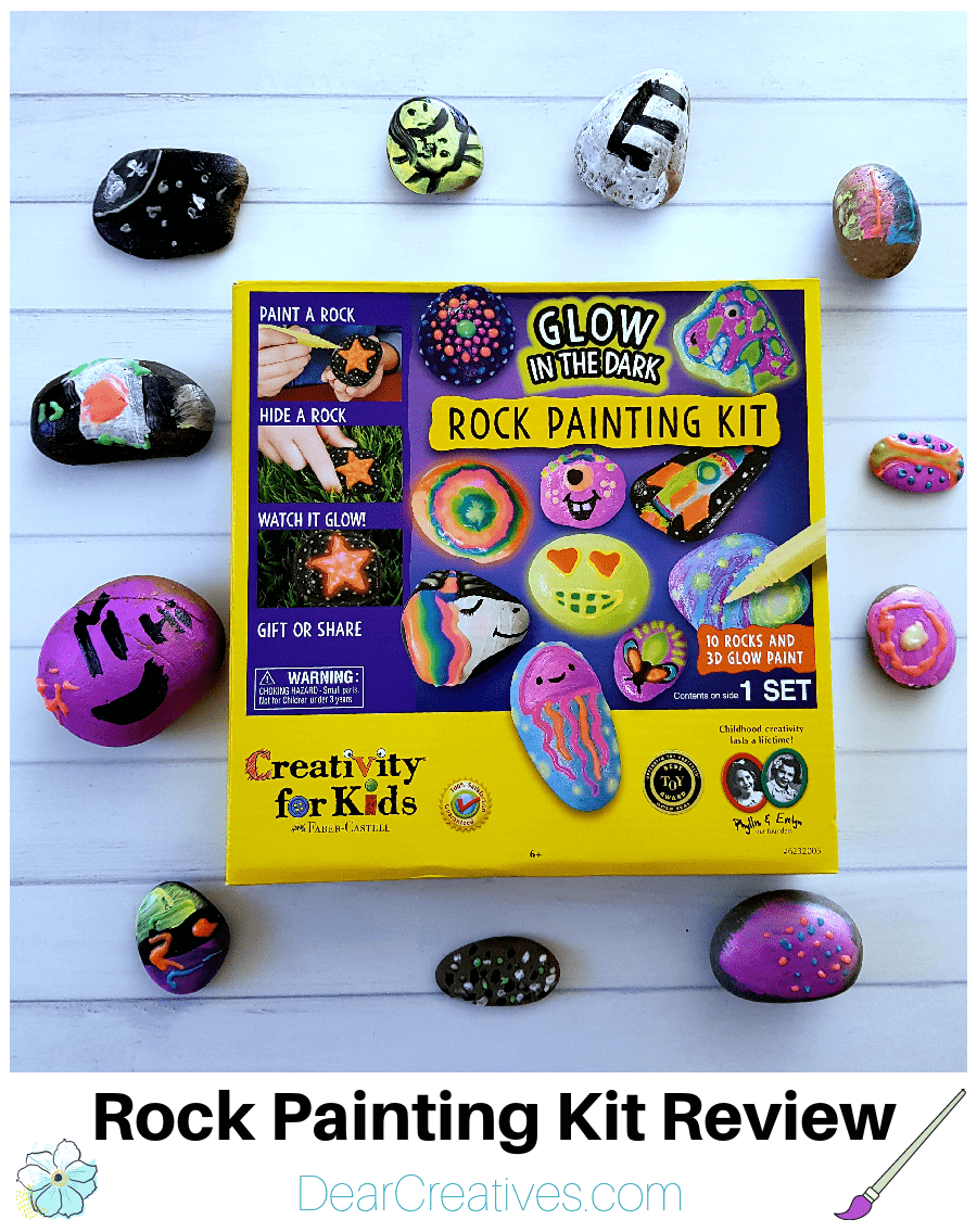 Rock Painting Kit Review (glow-in-the-dark)