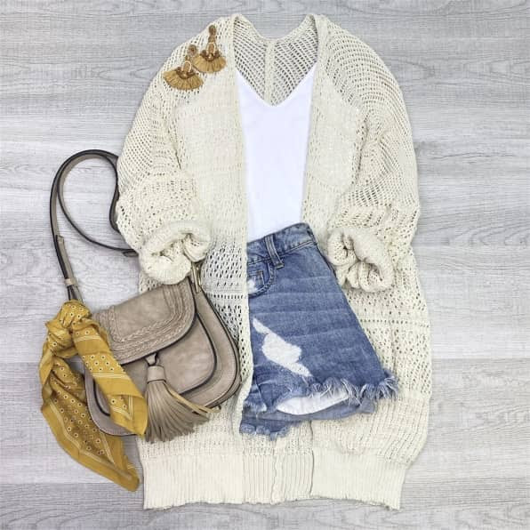 long crochet sweater lightweight for spring and summer