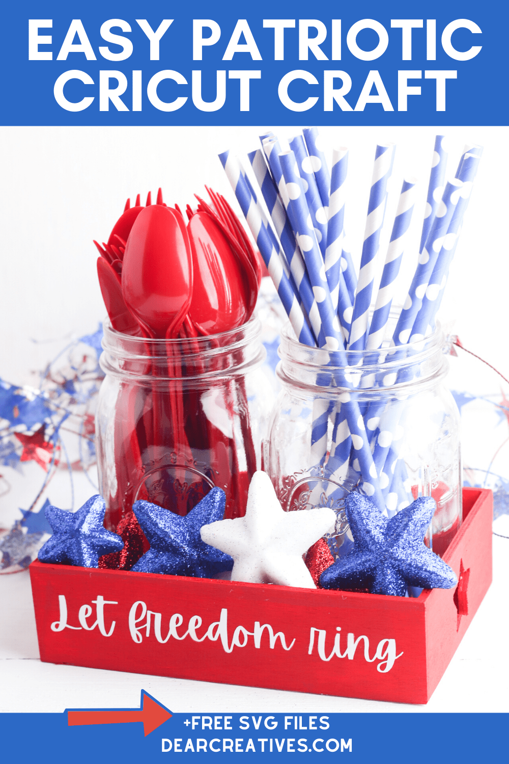 DIY Patriotic Tray Cricut Craft+SVG Files