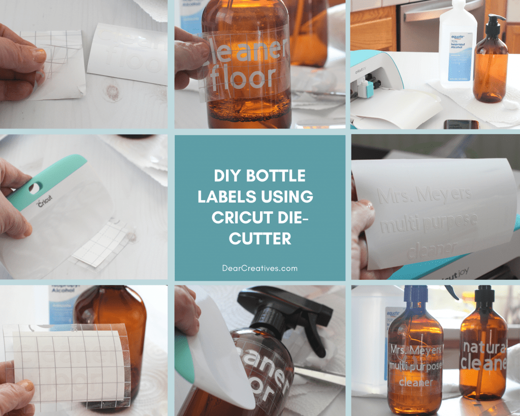 DIY vinyl labels. Instructions and tips for making labels with Cricut die-cutting machines. Includes Free SVG files! DearCreatives.com