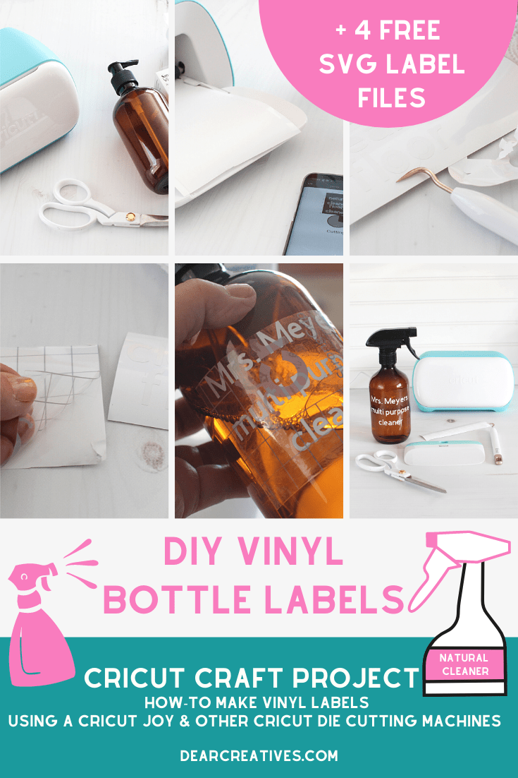 DIY Spray Bottle Labels – Cricut Craft