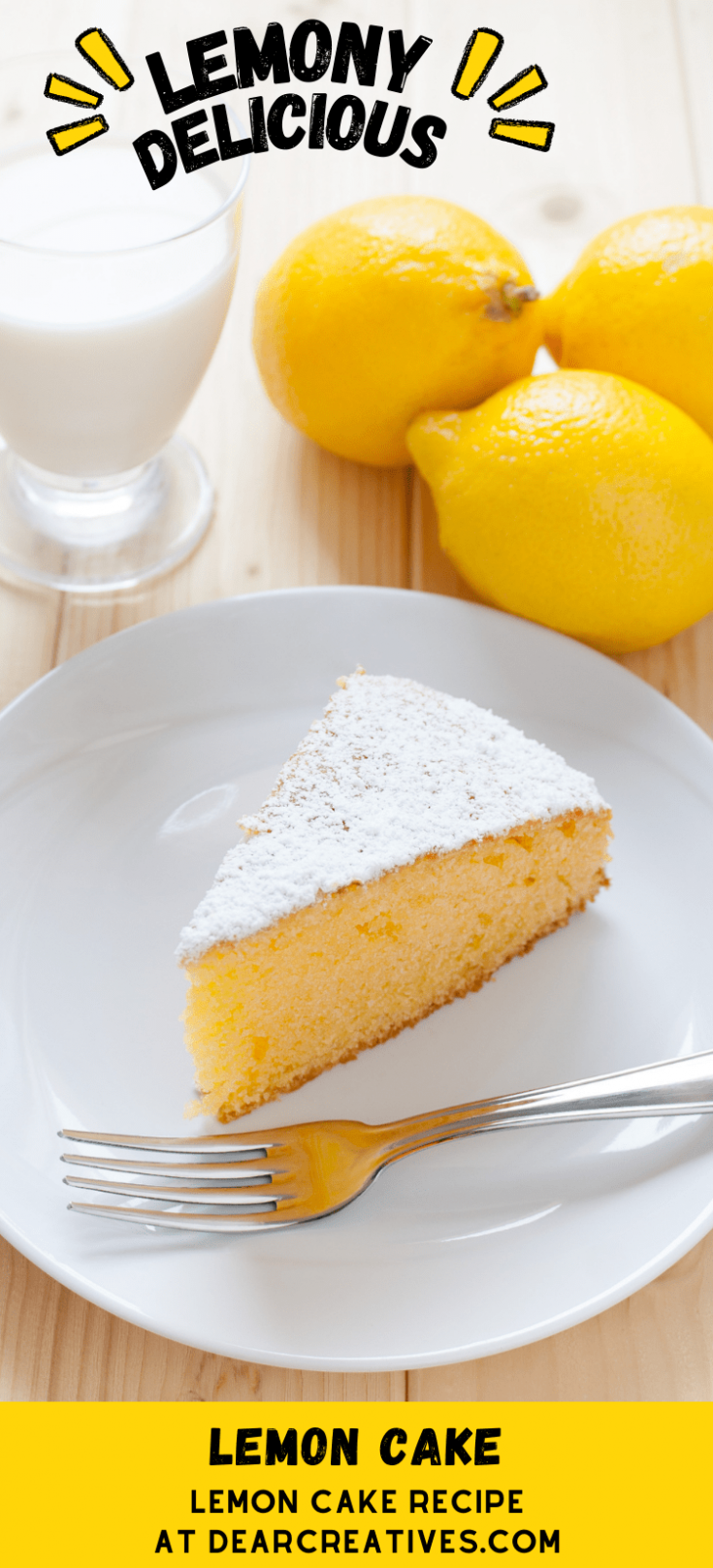 Lemon-Cake-Lemon-cake-recipe-that-is-easy-to-make.-One-layer-lemon-cake-that-is-moist-delicious-topped-with-a-lemon-glaze-and-powdered-sugar.-DearCreatives.com