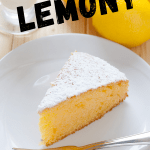 Lemon cake recipe - easy to make lemon cake! Moist and delicious topped with a lemon glaze that soaks in the cake and sprinkled with powdered sugar! DearCreatives.com