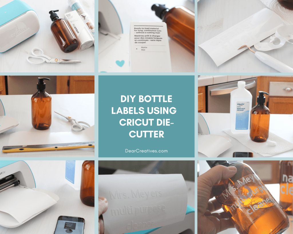Step by step how to make vinyl labels. DearCreatives.com