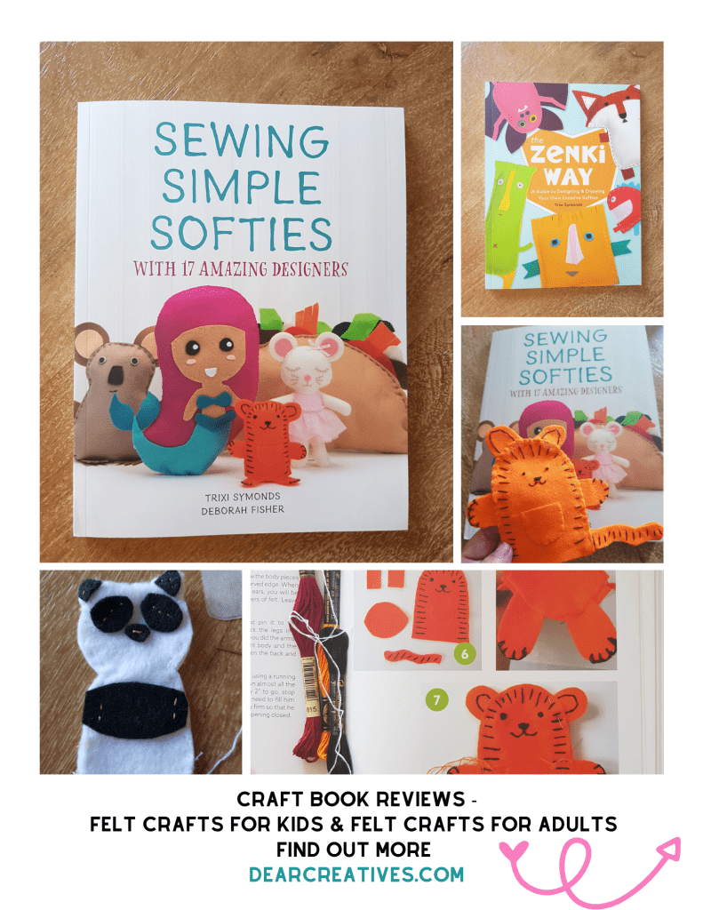 Craft Book Reviews Sewing Simple Softies and The Zenki Way - Craft Felt Books - Find out more DearCreatives.com