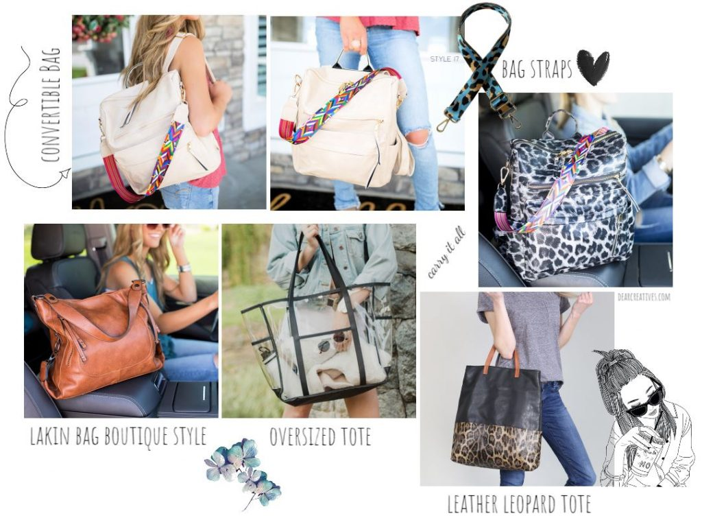 Handbags and totes for women - These are perfect for carrying everything you need. DearCreatives.com