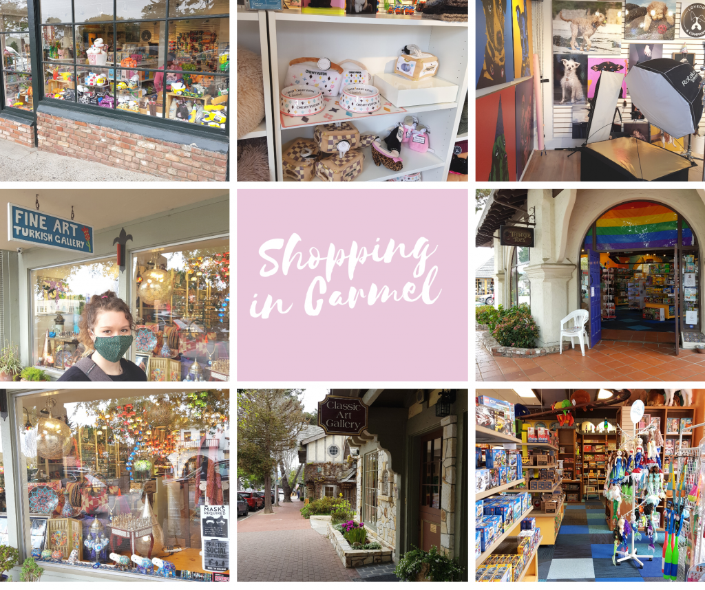 Things To Do In Carmel - Shopping the local shops and art galleries within walking distance in downtown Carmel - DearCreatives.com