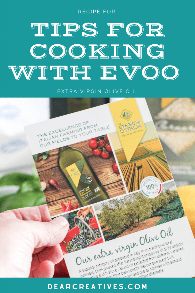 Tips for using extra virgin olive oil when cooking - #flavoryourlife - food cooking tips - Find out more at DearCreatives.com