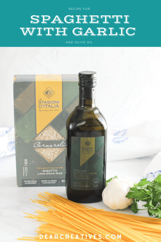 #flavoryourlife tips for cooking with olive oil and a recipe for spaghetti with garlic -DearCreatives.com
