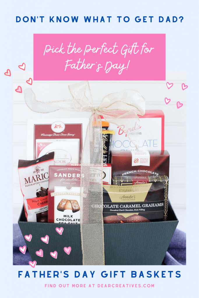 Don't know what to get dad for Father's Day - Father's Day Gift Baskets -So many selections to pick from to suit his tastes or interests. Find out more - DearCreatives.com