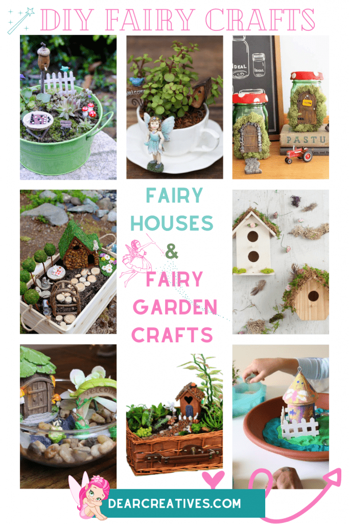 Fairy Crafts To Make - DIY Fairy Houses and Fairy Garden Crafts - 15 ideas for kids, teens and adults that are fun and easy! DearCreatives.com