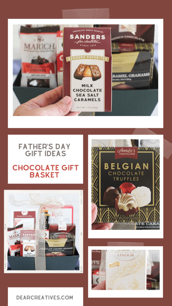Gift Baskets For Father's Day - This is one of many selections of gift baskets for a dad, grandpa, step-dad, or other father figures. Find out more gift ideas at DearCreatives.com