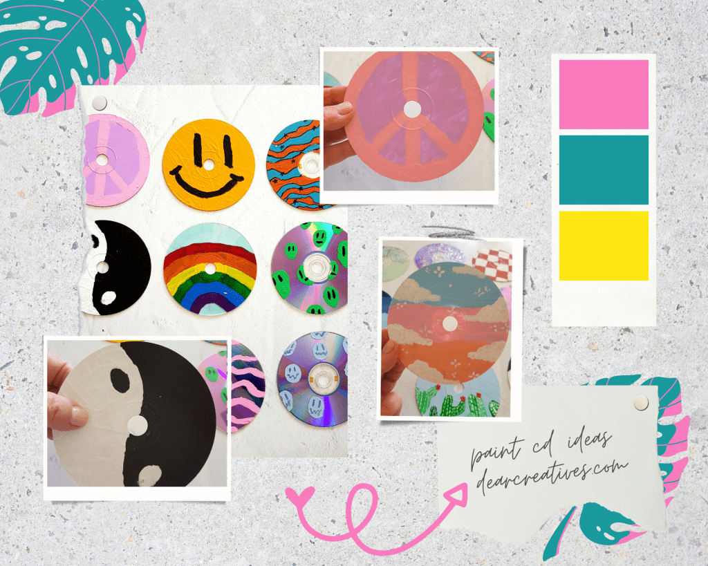 Paint CD Ideas - Instructions and tips for painting CDs. Fun and easy for kids, teens and adults. Find out more - DearCreatives.com