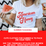Summer Fashions - These cute clothes for summer are perfect for packing on your trips, around town, park, picnics, the beach, and to wear to your 4th of July celebrations... DearCreatives.com