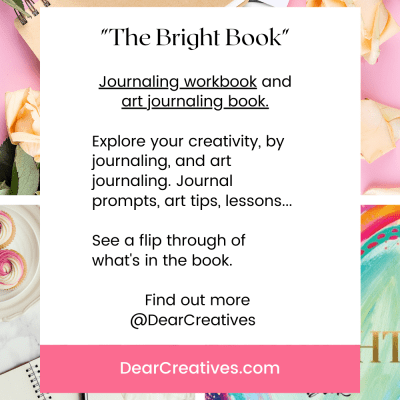 The Bright Book - overview and review of the journaling workbook - art journaling book. Find out more at DearCreatives.com