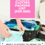 College Clothes Packing List (for her) - What clothes to bring to college What to pack Grab tips, college clothes for her, and see the list at DearCreatives.com