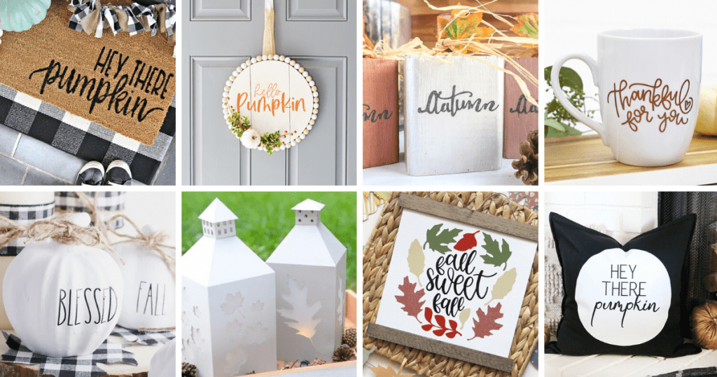 Fall crafts you can make with your Cricut - 20+ Cricut Crafts for Fall -DearCreatives.com