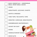 Printable - college clothing packing list (for her). Grab the tips for packing for clothes for college and get the free printable at DearCreatives.com